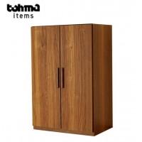 キャビネット 木製 60cm幅 扉付き木製キャビネット レトロ木製棚