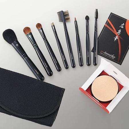 良質化粧ブラシセット 化粧ブラシセット 国産 広島筆 メイクブラシセット