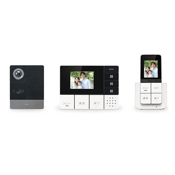 テレビドアホン ワイヤレス モニター2台 玄関カメラ付きインターフォン