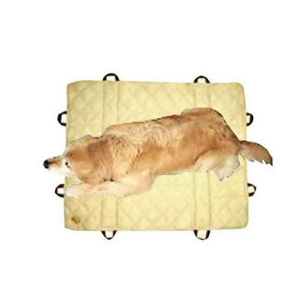 ペット用品 防臭&防水 介護取っ手つきマット マクラ無し 100×130cm ベージュ OK164