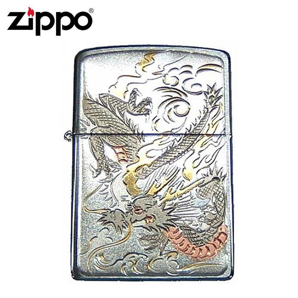 ZIPPO ジッポー オイルライター 電鋳板 ドラゴン