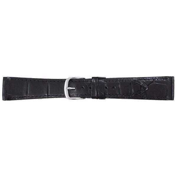 BAMBI バンビ 時計バンド グレーシャス ワニ革 クロコダイル 黒 BWA212AP