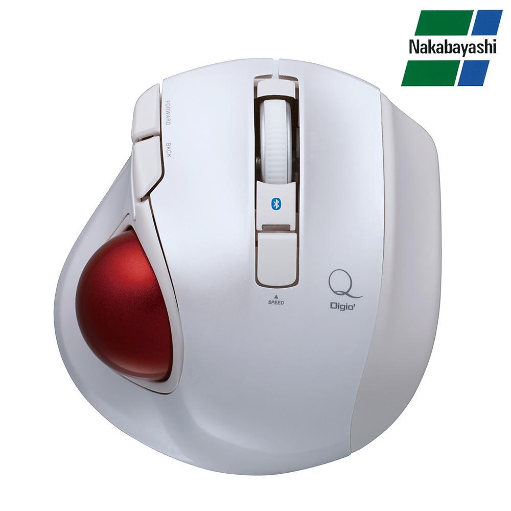 ナカバヤシ Digio2 極小トラックボール Q 小型 Bluetooth 静音 5ボタントラックボール ホワイト MUS-TBLF134W