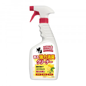 NATURE'S MIRACLE ネイチャーズ・ミラクル 香る強力消臭クリーナー フレッシュレモン 本体 700ml×12個 74260