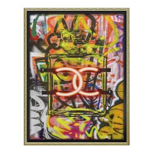 ユーパワー オマージュ キャンバスアート グラフィティ パフューム1 Mサイズ BC-12035