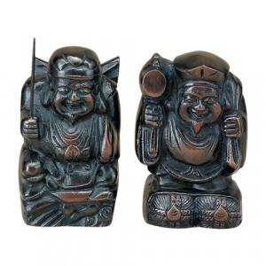 高岡銅器 銅製置物 福の神 大黒・恵比寿 40-03