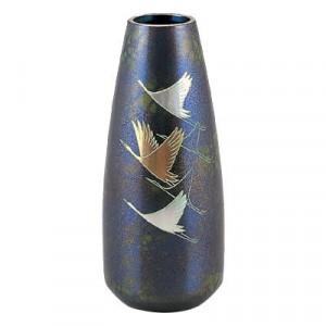高岡銅器 銅製花瓶 蓬莱形 翔鶴 8号 97-09