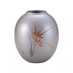 高岡銅器 銅製花瓶 蒔絵 花宝 花 101-10