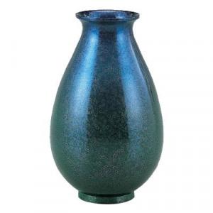 高岡銅器 銅製花瓶 福ダルマ 7号 パールブルー 103-05