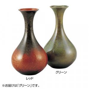 高岡銅器 銅製花瓶 新ダルマ グリーン 103-09