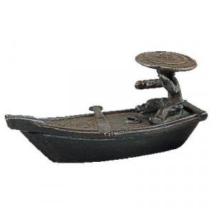 高岡銅器 銅製香立 水滴 舟人 136-22