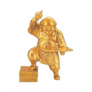 高岡銅器 和風置物 宝くじ大黒 152-13