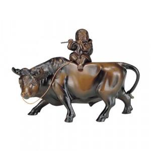 高岡銅器 和風置物 立牛童子 13号 153-06