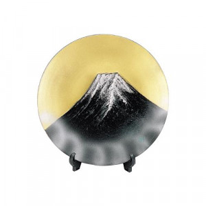 高岡銅器 和風置物 飾皿 富士 156-04