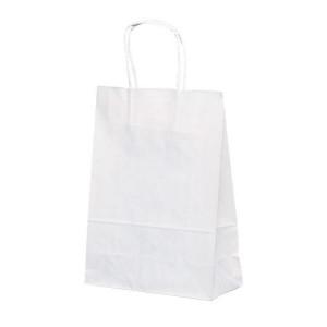 T-3 自動紐手提袋 紙袋 紙丸紐タイプ 220×100×300mm 200枚 白無地 1317