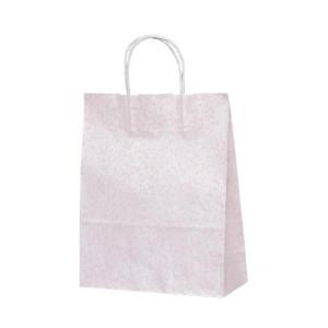 T-X 自動紐手提袋 紙袋 紙丸紐タイプ 260×110×330mm 200枚 フロスティ ピンク 1587