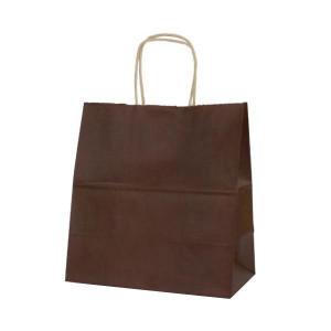T-5W 自動紐手提袋 紙袋 紙丸紐タイプ 260×150×280mm 200枚 カラー カカオ 1647