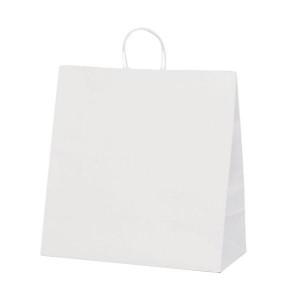T-15W 自動紐手提袋 紙袋 紙丸紐タイプ 450×220×460mm 200枚 白無地 1298
