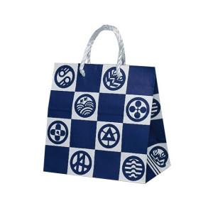 T-ミニ 自動紐手提袋 紙袋 PP紐タイプ 260×150×260mm 200枚 エモン 1635