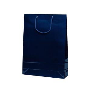 エクセルバッグ 手提袋 330×100×450mm 50枚 ネイビー 1104