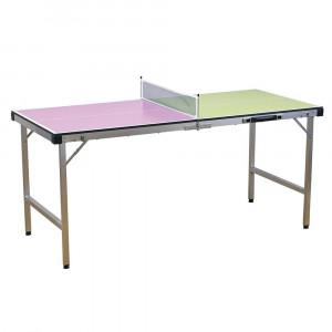 SPICE バカンス バイカラー キャリー卓球台セット ピンク×イエローグリーン SFVT1801