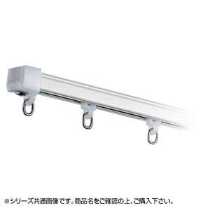 岡田装飾 OSスーパーAレールセット MG入り 2.73m×2本 AワンタッチWブラケット付き6個 ホワイト 7MW27WH