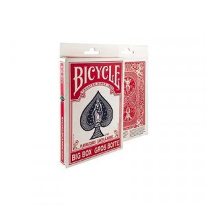 ビッグサイズのトランプ プレイングカード マーケット バイスクル 赤 ビッグ PC8082A 超特価