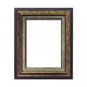 油額 金 F8号 ガラス 455×380mm 3001
