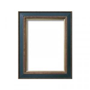油額 花シリーズ 花ナポリ グリーン F4号 333×242mm ガラス