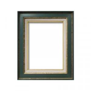 油額 花シリーズ 花ボルドー グリーン F4号 333×242mm ガラス