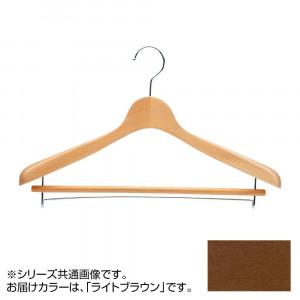 日本製 木製ハンガーメンズ用 ライトブラウン 5本セット T-4121 バー付 肩幅42cm×肩厚4cm