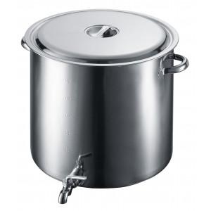 EBM 18-8 蛇口付 スープ寸胴鍋 55cm 3589100
