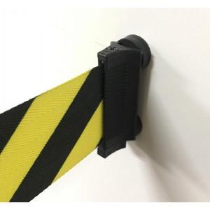 壁用ベルトパーテーション マグネットタイプ 黄/黒 約5m J2292