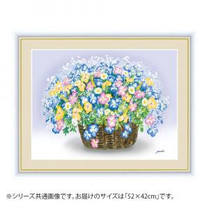 アート額絵 洋 美 ようび ビオラのブーケ G4-AB056 52×42cm