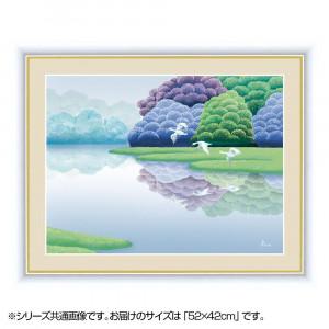 アート額絵 竹内 凛子 たけうち りんこ 湖畔早春 G4-CA003 52×42cm