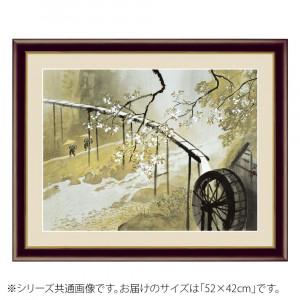 アート額絵 川合玉堂 暮春の雨 G4-BN051 52×42cm