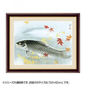 アート額絵 川端龍子 秋鱗 G4-BN095 52×42cm