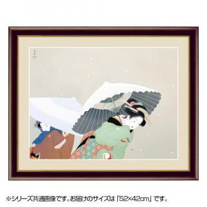 アート額絵 上村松園 牡丹雪 G4-BN035 52×42cm