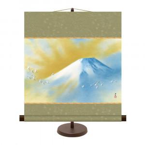 飾りやすいサイズの掛け軸 和風モダン掛 ついに再販開始 横山大観 44.5×50cm 日本産 KM2G8-002 霊峰飛鶴