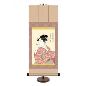 和風モダン掛 喜多川歌麿 ビードロを吹く娘 KM2G6-001 31×75cm