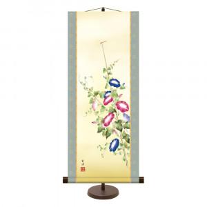 専用スタンド付きの季節感のある作品 和風モダン掛 近藤玄洋 大好評です 朝顔 31× 75cm 日本最大級の品揃え KM2A9-023