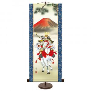 季節感のある掛け軸 流行 和風モダン掛 未使用 長江桂舟 大成武者 75cm 31× KM2F8-020