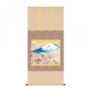 掛軸 横山大観 富士と桜図 KZ2G9-005 54.5×115cm