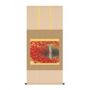 床の間に日本の美 掛け軸を 掛軸 川端龍子 54.5×115cm KZ2G9-071 日本製 滝に紅葉 限定特価