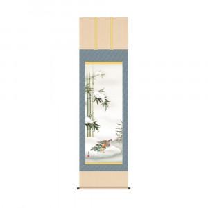 掛軸 福田春草 鴛鴦 KZ2A5-060 54.5×190cm