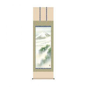 掛軸 熊谷千風 黎明富士 KZ2B3-122 54.5×190cm