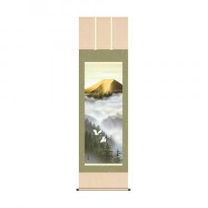 床の間に日本の美 掛け軸を 掛軸 有馬荘園 ランキング総合1位 54.5×190cm 金富士飛翔 今ダケ送料無料 KZ2B3-118
