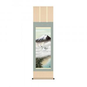 大放出セール 床の間に日本の美 掛け軸を サービス 掛軸 鈴村秀山 44.5×164cm KZ2MB3-120 富士飛翔