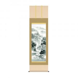 床の間に日本の美 ☆正規品新品未使用品 最安値挑戦 掛け軸を 掛軸 北山歩生 54.5×190cm 蒼山水明 KZ2B2-073