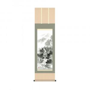 床の間に日本の美 掛け軸を 激安卸販売新品 掛軸 伊藤渓山 44.5×164cm 完全送料無料 悠景山水 KZ2MB2-078